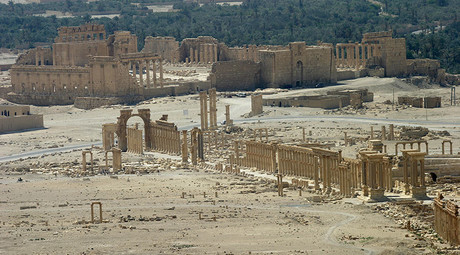 A general view shows the ancient Temple of Bel in the historical city of Palmyra, Syria. © Gustau Nacarino