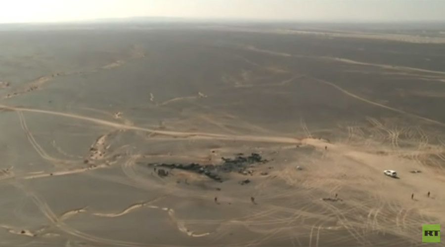 Aerial footage of site where Russia's A321 crashed in Sinai, Egypt, released