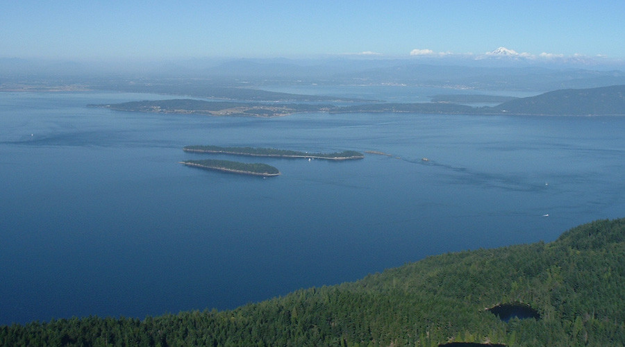 West coast US view from Orcas Island © Wikipedia