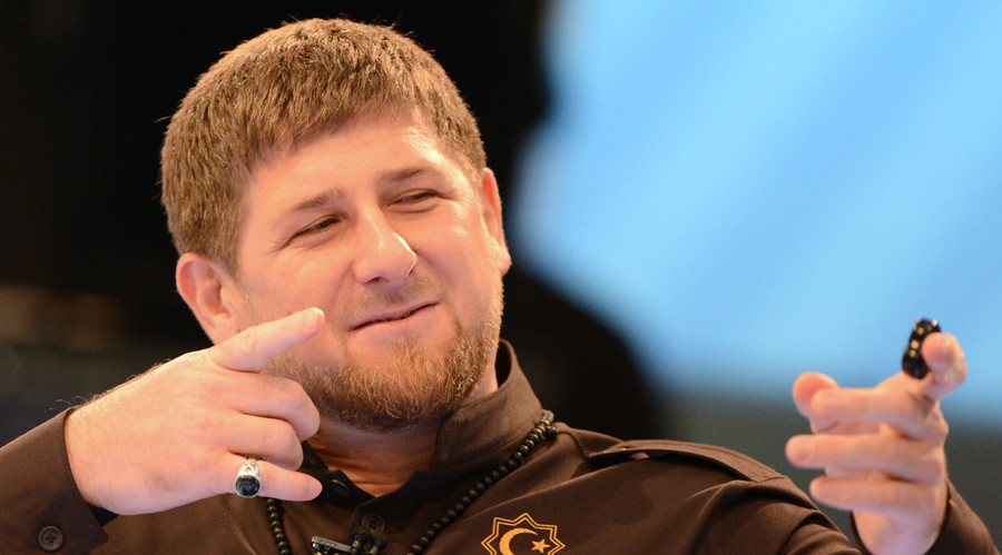 Head of the Chechen Republic Ramzan Kadyrov during a press conference. © Said Tsarnaev
