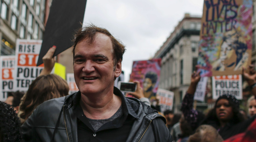 The police are trying to bully Quentin Tarantino from speaking out