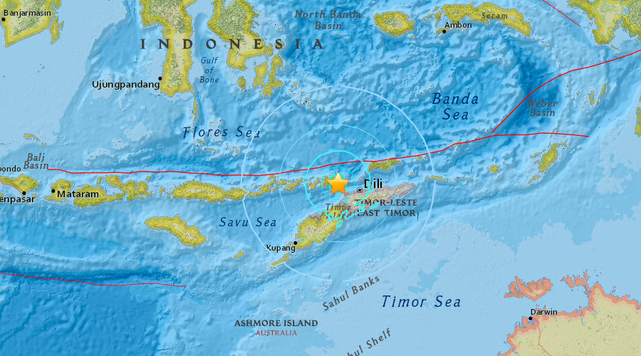 6.3 quake hits near East Timor's capital, damage reported