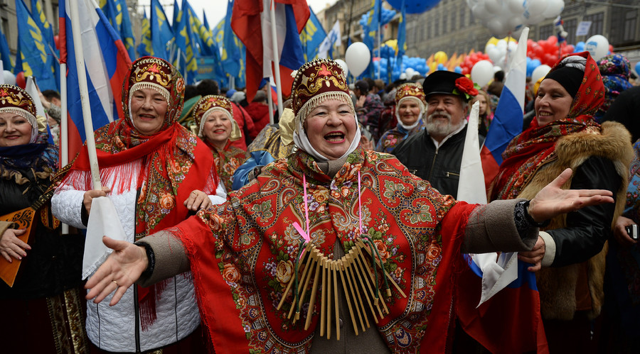 'We Are United' march and rally in Moscow on National Unity Day. © Maksim Blinov