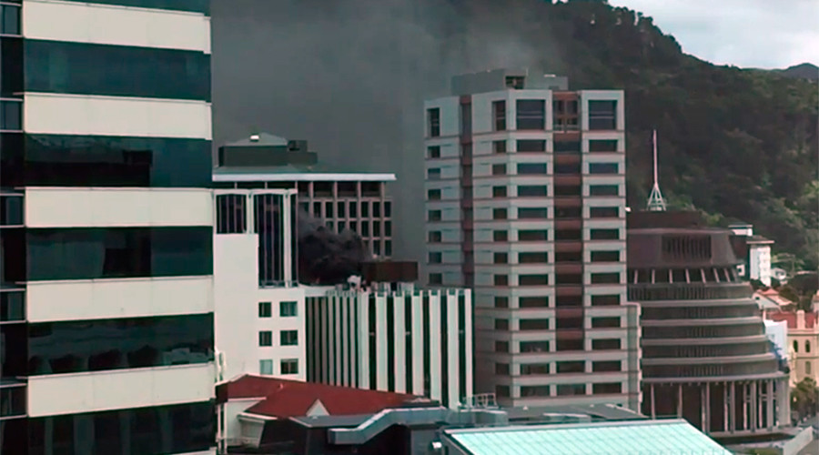NZ ministry evacuated amid fire, thick smoke in high-rise near Parliament