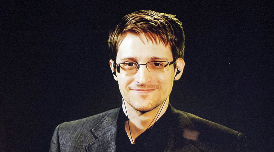 Former U.S. National Security Agency contractor Edward Snowden. © Svein Ove Ekornesvaag / NTB Scanpix