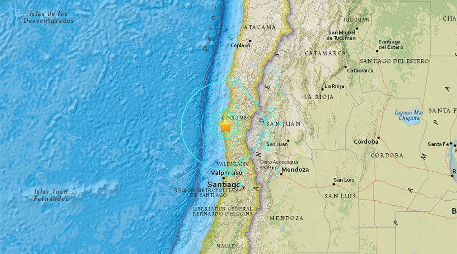 6.8 magnitude earthquake strikes Chilean coast, tremors felt in Santiago