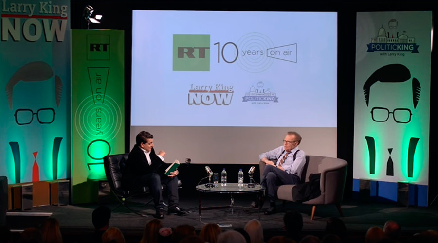 'An Evening with Larry King': News legend talks to RT's Afshin Rattansi ahead of his debut on RT UK