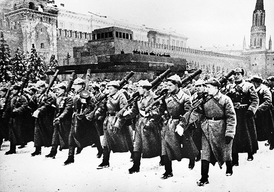 Red Square military parade. Great Patriotic War 1941-1945. © Ustinov