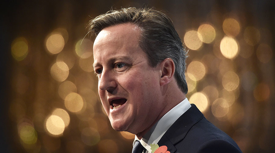 Cameron shuts down anti-EU hecklers at CBI conference