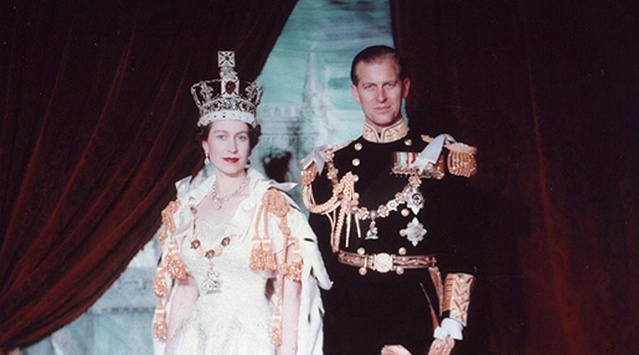 Queen Elizabeth II and Prince Philip, Duke of Edinburgh. Coronation portrait, June 1953, London, England. ©Cecil Beaton / Library and Archives Canada