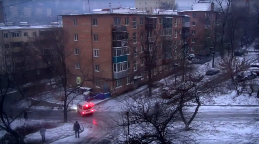 Hitting the skids: Watch all these drivers fail to take turn on icy road in Russia (VIDEO)