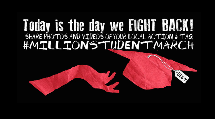Students across America protest debt in Million Student March