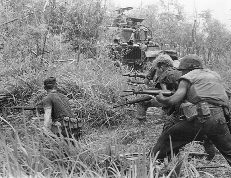 U.S. Marines in Operation Allen Brook in 1968 © Wikipedia