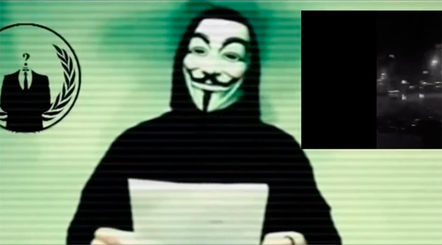 'Anonymous will hunt you down!' Hacktivists declare 'total war' on ISIS after Paris attacks