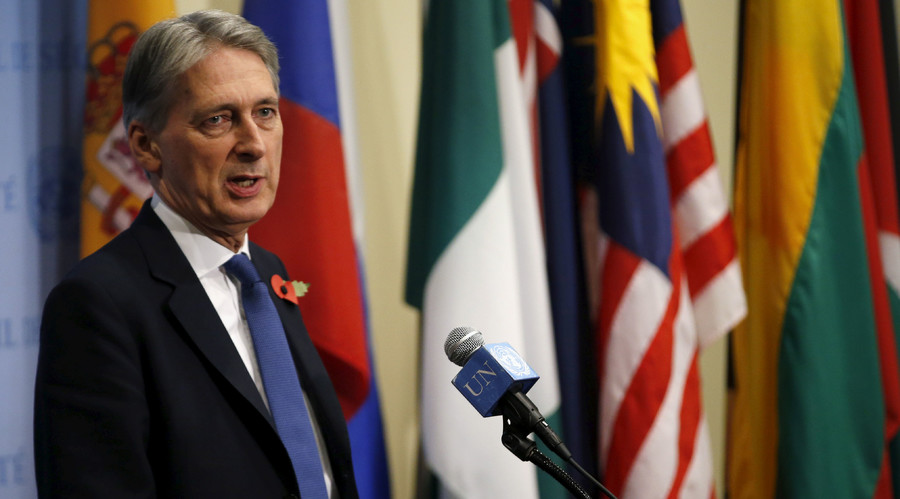 A 'warning shot'- The crazy logic of UK's Hammond and what lies behind it