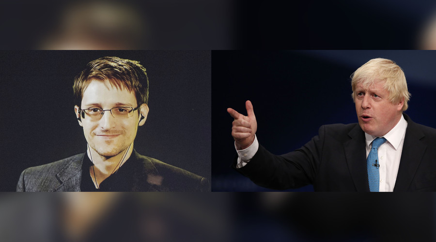 'Edward Snowden taught terrorists how to avoid being caught' – Boris Johnson