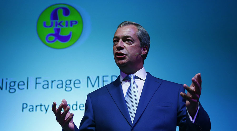 Leader of the United Kingdom Independence Party (UKIP) Nigel Farage. ©Eddie Keogh