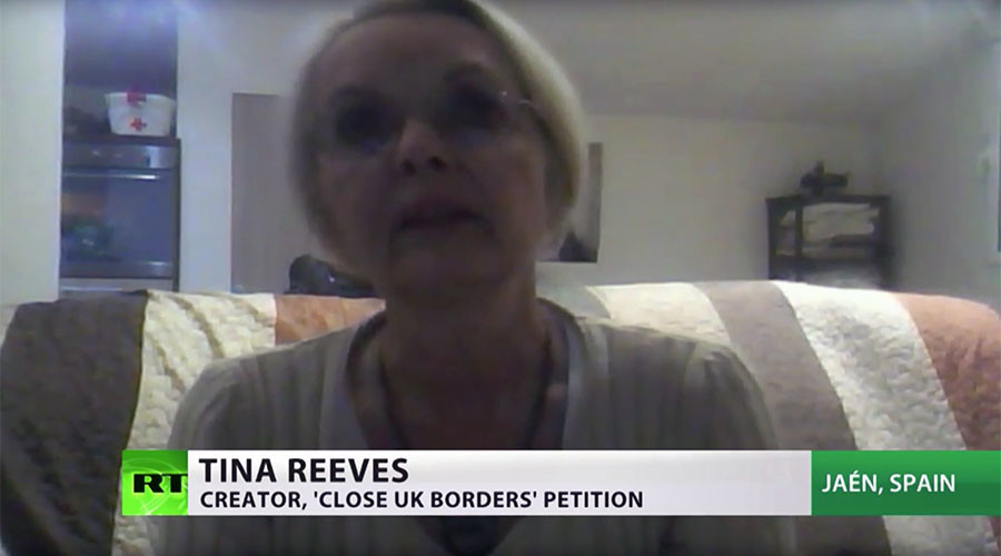 British woman behind 400k petition to 'close UK borders'… lives in Spain