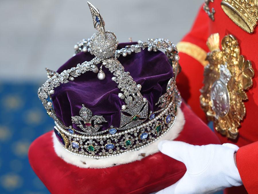 Britain's Queen Elizabeth's Imperial State Crown. © Eddie Mulhollan