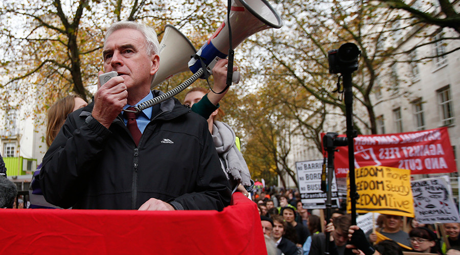 Britain's Shadow Chancellor of the Exchequer John McDonnell © Peter Nicholls