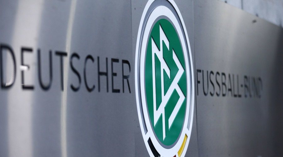 Logo of Germany's DFB football association at its headquarters in Frankfurt, Germany November 9, 2015. © Ralph Orlowski