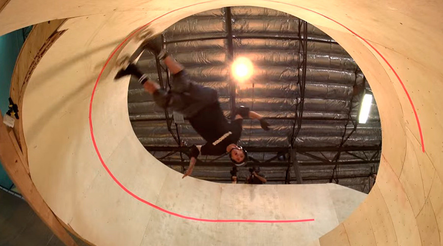 Skateboard sensation: Tony Hawk skates first-ever horizontal loop (VIDEO)