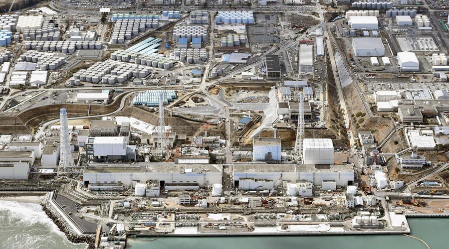 General aerial view of Tokyo Electric Power Co. (TEPCO)'s tsunami-crippled Fukushima Daiichi nuclear power plant in Fukushima prefecture © Kyodo
