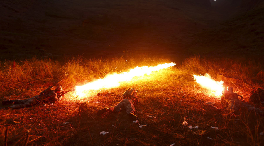 China used flamethrowers to lure terrorists out of cave - military daily