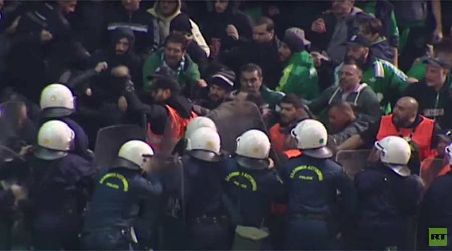 Fan riot leads to Athens derby being called off (VIDEO)