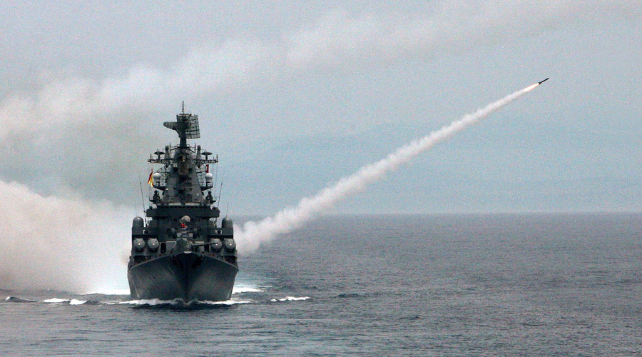Russia deploys missile cruiser off Syria coast, ordered to destroy any target posing danger