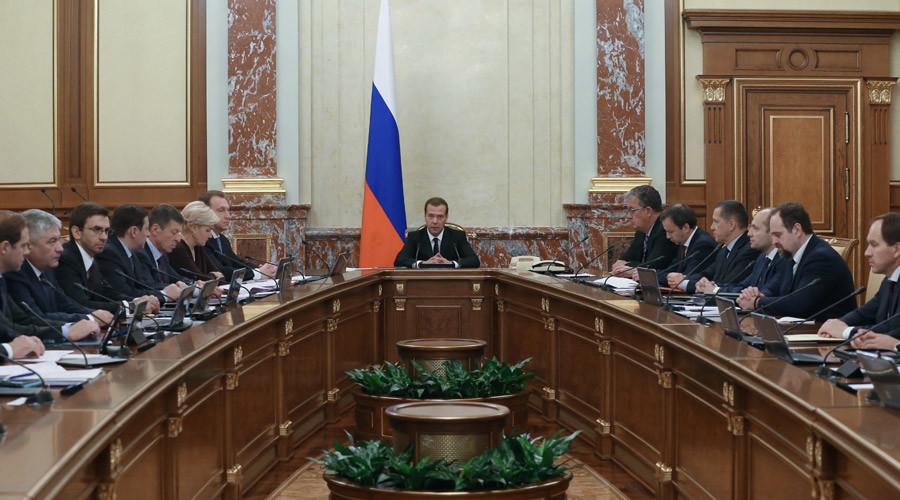 Russian Prime Minister Dmitry Medvedev cabinet meeting 26.11.2015 © Ekaterina Shtukina