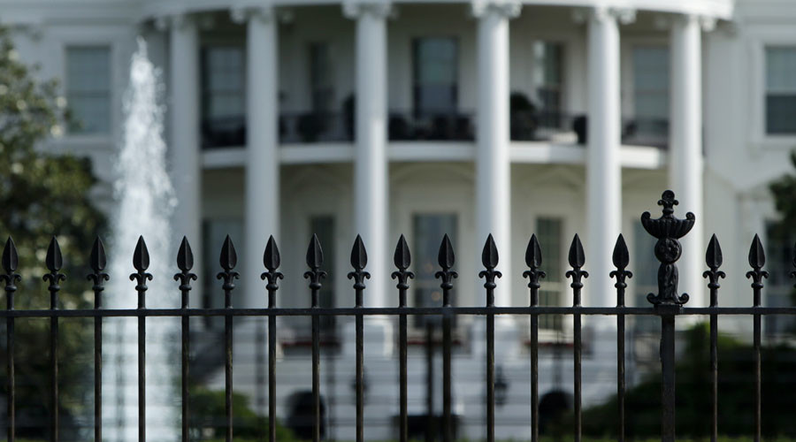 US flag-bearing intruder triggers White House lockdown