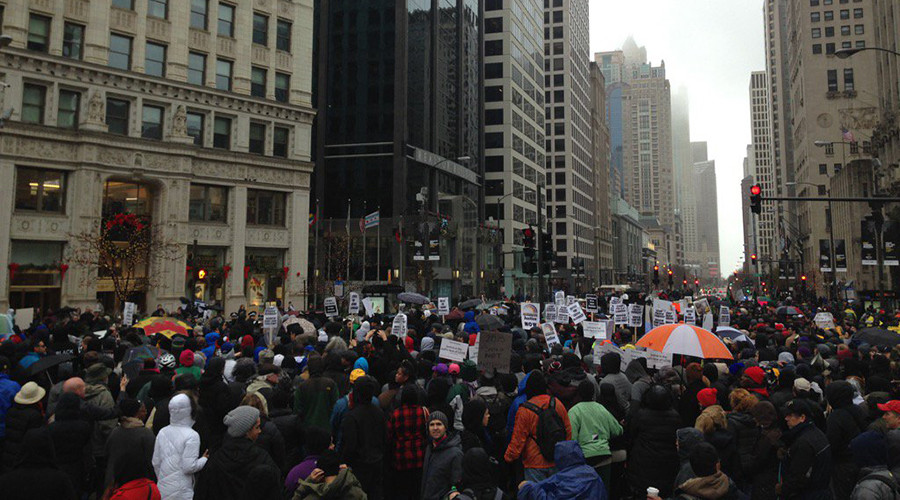 Black Friday protests over Laquan McDonald shooting across US