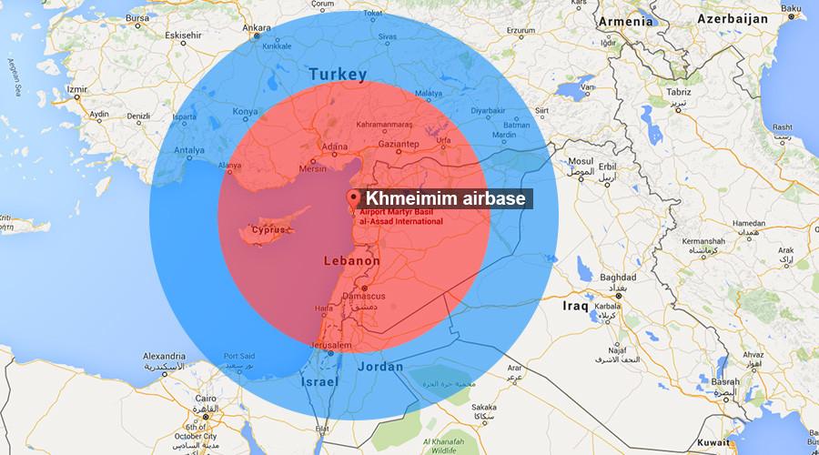 Радиус действия С-400 в Сирии