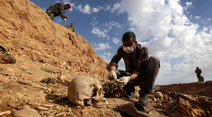 'Genocide of Yazidis': Booby-trapped grave with over 120 ISIS victims found in Iraq
