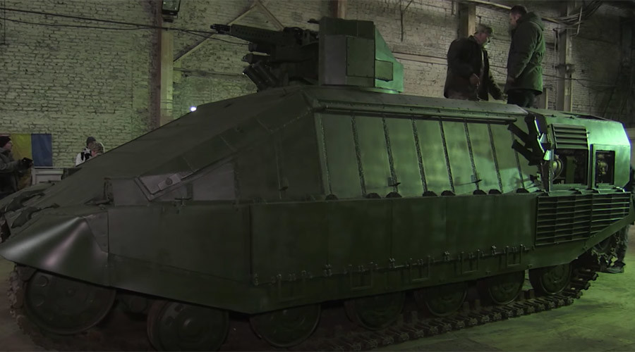 Straight from the dumpster? Kiev's new 'in-city fight' tank trolled on Twitter
