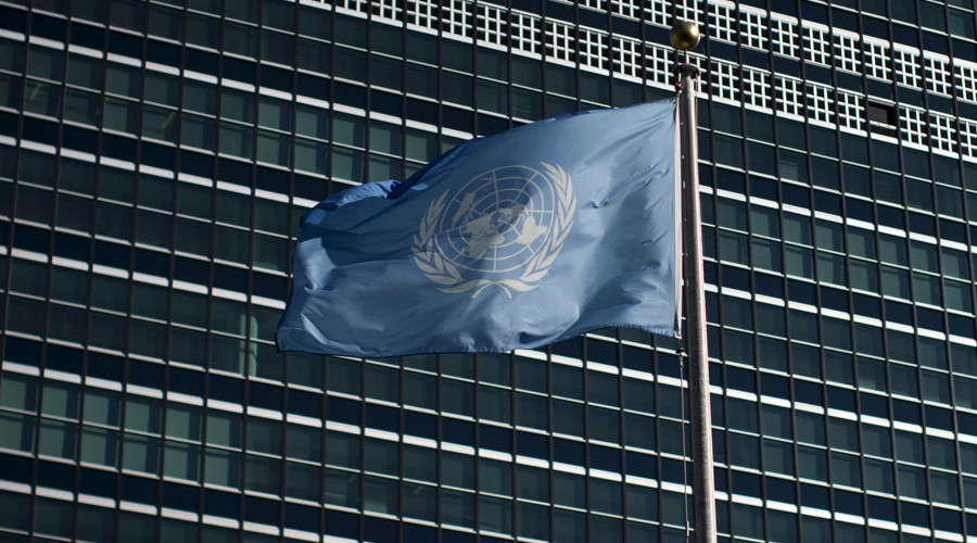 The United Nations flag © Mike Segar