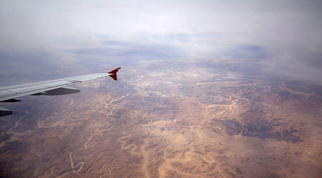 Sinai desert from Airbus A-321-200 © Doomych