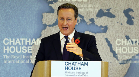 Britain's Prime Minister David Cameron delivers a speech on EU reform, at Chatham House in London, Britain November 10, 2015. © Kirsty Wigglesworth