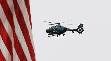 A Massachusetts State Police helicopter © Brian Snyder