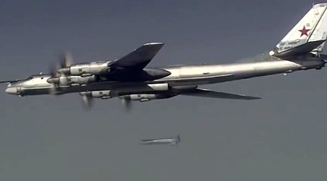 A Russian Tupolev 95 long-range bomber launches a massive air strike on the Islamic State infrastructure in Syria. ©Ministry of defence of the Russian Federation