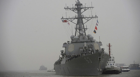 USS Stethem (DDG 63) destroyer vessel arrives at a military port for an official visit, in Shanghai, China, November 16, 2015. © Stringer