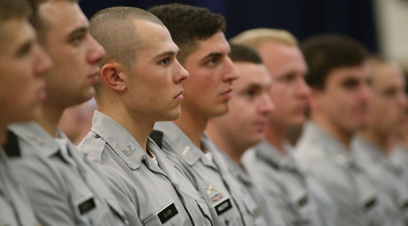 Republican U.S. presidential candidate Jeb Bush (not pictured) addresses cadets at the U.S. military at The Citadel, The Military College of South Carolina, in Charleston, South Carolina November 18, 2015. © Joshua Drake