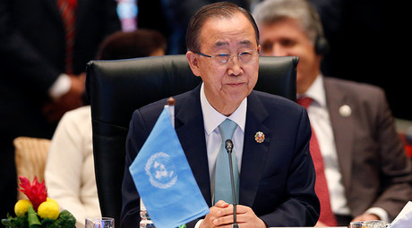 United Nations Secretary-General Ban Ki-moon attends the 10th East Asia Summit at the 27th Association of Southeast Asian Nations (ASEAN) summit in Kuala Lumpur, Malaysia, November 22, 2015 © Olivia Harris