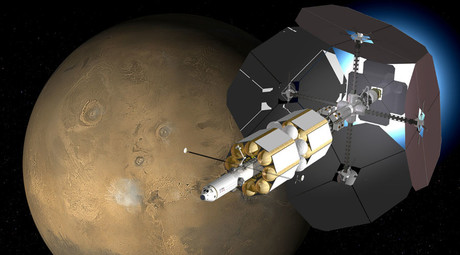 Artist's impression of multi-megawatt VASIMR spacecraft. © Wikipedia
