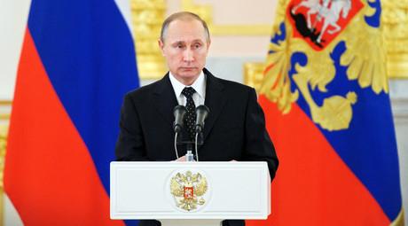 Russian President Vladimir Putin. ©Michael Klimentyev