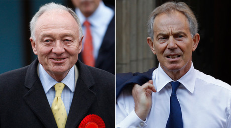 Former Mayor of London Ken Livingstone (L) and Former British Prime Minister Tony Blair (R) © Str