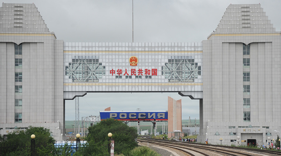 The Chinese-Russian border on the Manchuria - Siberia railway route © Evgeny Yepanchintsev