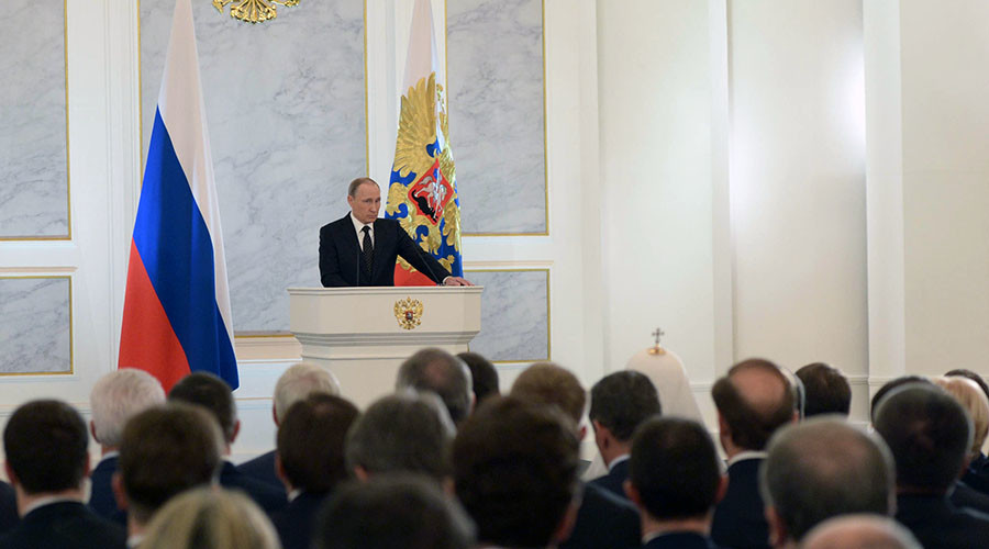 Putin addresses Russian legislators