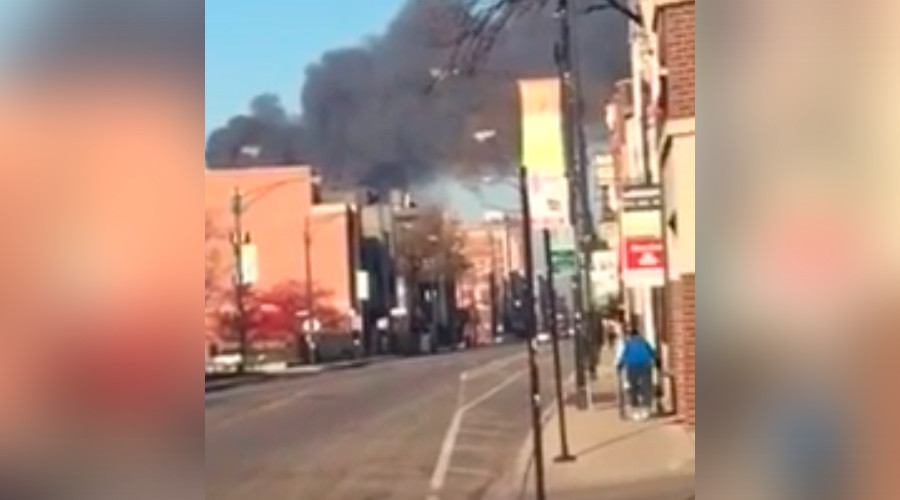 Hazmat response as witnesses report 'huge fire, lots of explosions' at scrap yard in Chicago